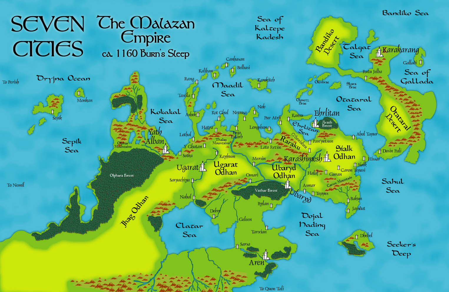 Viewing Image Nagroms A Seven Cities Map Malazan Empire - Geleen map