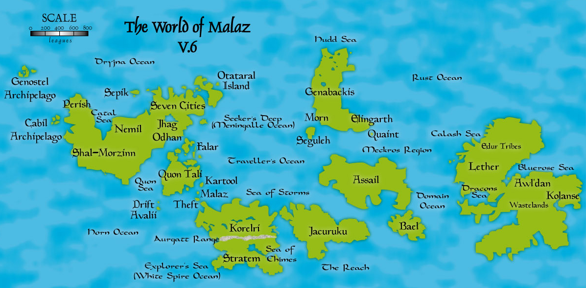 Viewing Image Nagrom S Werthead World Map V 6 Malazan Empire
